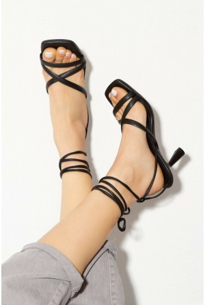 derithy Kadın Siyah Topuklu Ayakkabı byc1702 BYC1702